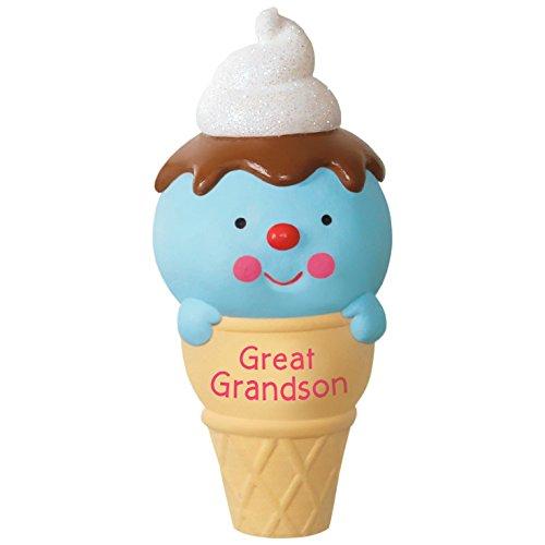 Grandson Hallmark Ornament - Ice Cream Cone Great Grandson Ornament Family