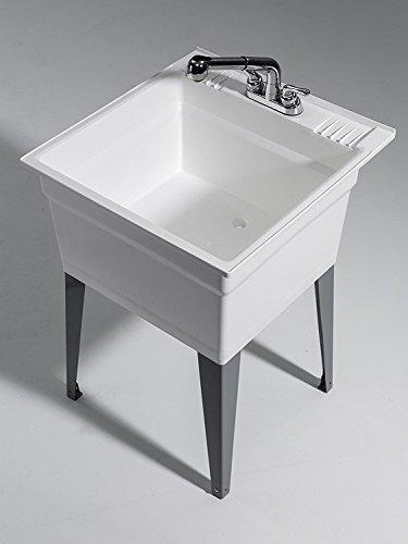 CASHEL 1960-32-21 Sink - Fully Loaded Sink Kit, Steel Leg, White by Cashel (Image #1)