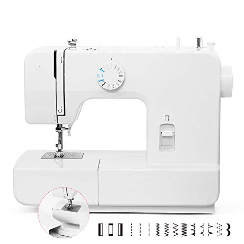 15 Stitches Lock Edge Two-Way Sewing Machines, with Sewing Cuff Tube, Metal Shuttle, Small Electronic Sewing Machine, Kids DIY Gifts, Electric Household Quilting Machine, Stitches Machines,