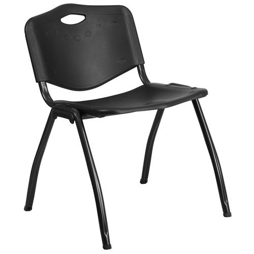 Flash Furniture HERCULES Series 880 lb. Capacity Black Plastic Stack Chair by Flash Furniture