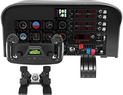 Logitech G - Flight Yoke System - Simulador de Vuelo – Negro