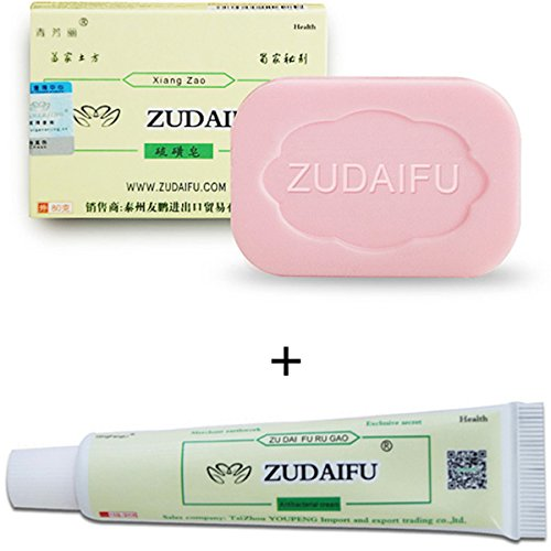 GARYOB Antibacterial Ointment Creams CEZUBEM Psoriasis Eczema Peeling ZUDAIFU Herbal Creams with Effective Sulfur Soap
