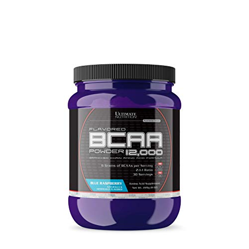 Ultimate Nutrition Flavored BCAA Postworkout Energy and Muscle Recovery Powder - Increase Endurance, Improve Performance, Burn More Fat, Blue Raspberry, 30 ()