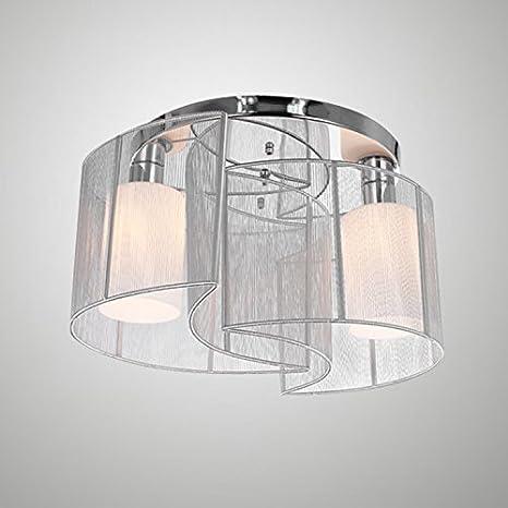 Luna, lámpara de techo simple de Cabeza 2 plata blanco de 40 ...