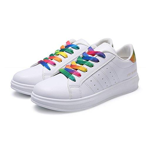 NGRDX&G Damen Turnschuhe Weiße Weiße Weiße Vulkanisierte Schuhe Dame Baumwolle Casual Schuhe Frauen Niedrige Flache Schuhe Sportschuhe fbb78d