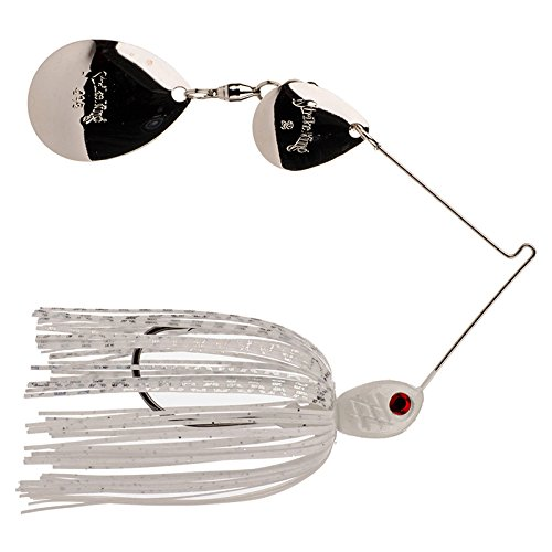 - Strike King Premier Pro-Model Spinnerbait - Colorado/Colorado (White/Silver Blades, 0.375-Ounce)