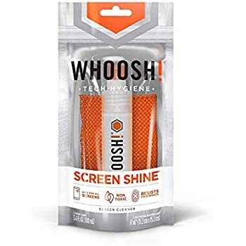 WHOOSH! Award-Winning Screen Cleaner – Safe for All Screens – Smartphones, iPads, Eyeglasses, Kindle, LED, LCD & TVs – Includes 3.4 Oz Bottle + 1 Premium ...