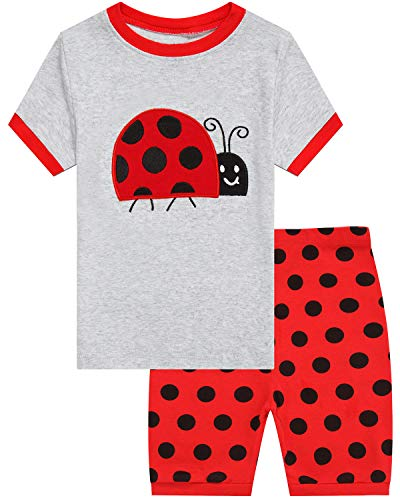Little Pajamas Ladybug Sleepwear 100% Cotton Summer Short Toddler Pjs Clothes Shirts Size -