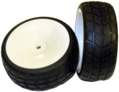 2 Piece Redcat Racing White Wheels /& Tires