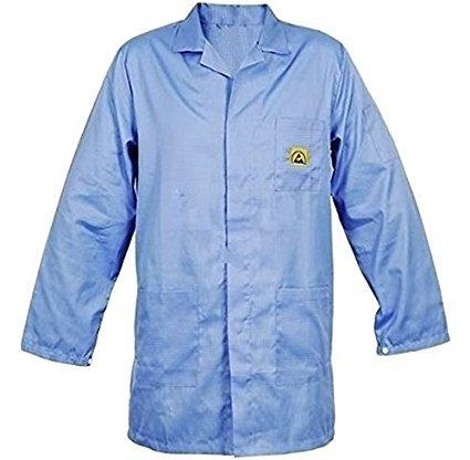 SCHOFIC ANTISTATIC [ESD] SAFE Unisex Lab Coat/Apron/Jackets [LARGE] – Blue