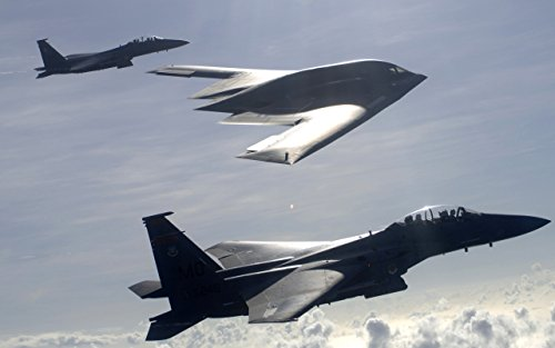 Military Aircraft Military F-15 Eagle B 2 Spirit Fighter Jets - 24X36 Poster