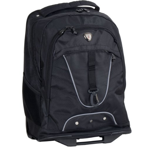 CALPAK Night Vision Black 18-inch Rolling Multi-compartment Backpack