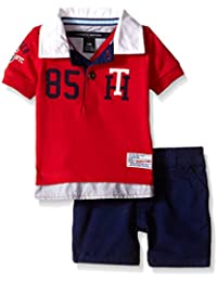Baby Boys' Knit Rugby Polo Shirt and Twill Shorts