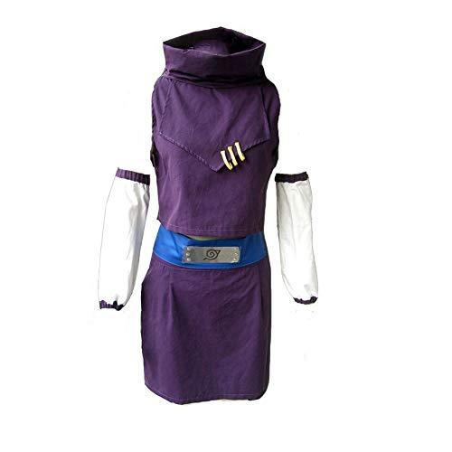Classical City Naruto Shippuden Ino Yamanaka Cosplay Costume 5 Pcs (XXXL) Purple]()