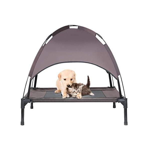 414X6QY0tcL Jolitac Hundeliege mit Dach Hundebett Baldachin Schlafplatz Hundesofa Hunde Liege Haustierbett Katzenbett 3 Maße 2…