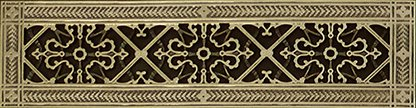 Decorative Grille, Vent Cover, or Return Register. Made of Urethane Resin to fit over a 4''x20'' duct or opening. Total size of vent is 6''x22''x3/8'', for wall and ceiling grilles (not for floor use). by Beaux-Artes, Ltd. (Image #2)