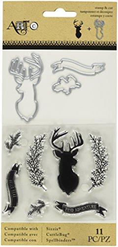 Momenta 25883 N/A Stamp & Die Set-Deer/Twig/Banner Deer Stamps