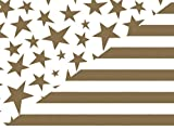Gold Stars & Bold Stripe 24''x417'