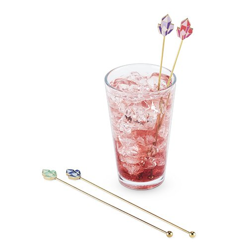 Blush 5760 Crystal Stir Sticks, 0.25'' Height, 0.75'' Width, 8.5'' Length (Pack of 12)