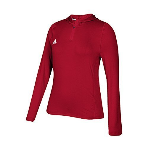 Adidas University Of Nebraska Omaha Training Hoodie Womens Power Red