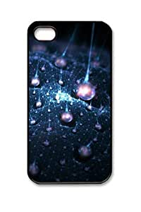 Abstract Fractal Iphone 4/4S Black Sides Hard Shell Case by eeMuse