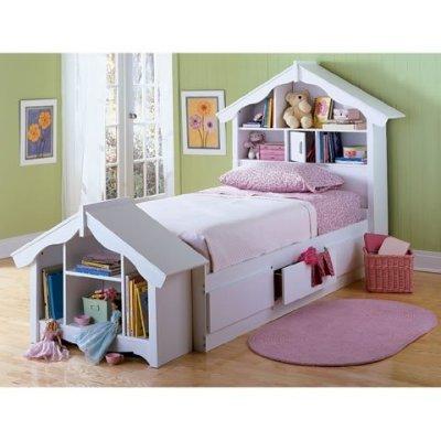 Amazon Com Dollhouse Headboard Storage Bed Twin Size Kitchen