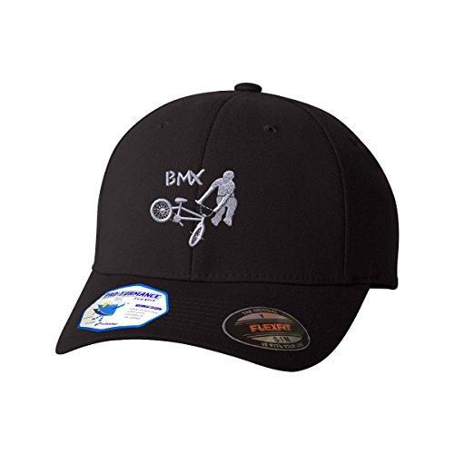 Bmx Flexfit Pro-Formance Embroidered Cap Hat Black - Bmx Hats