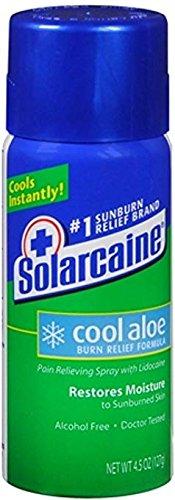 Solarcaine Cool Aloe Burn Relief Spray 4.50 oz (Pack of 4)
