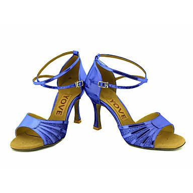 Black Azul baile Oro de Tacón Salsa Personalizables Latino Personalizado Plata Zapatos Rojo Negro 1T7Hq