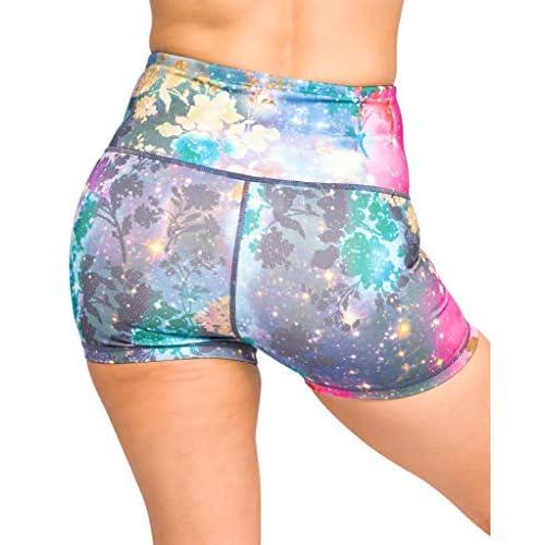 Epic MMA Gear High Waist Athletic Workout Yoga Shorts 3 Inseam Tummy Control