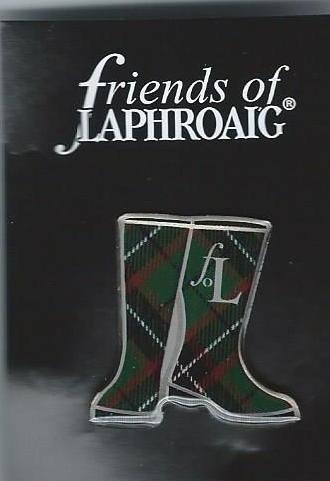 FRIENDS OF LAPHROAIG SCOTCH MALT WHISKY LAPEL PIN / PIN BADGE (GLENCAIRN)