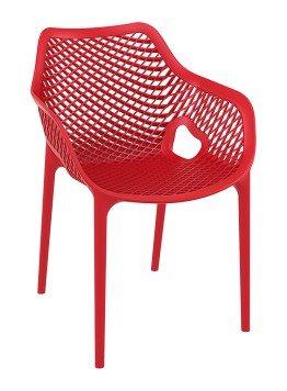 Gartenstühle kunststoff stapelbar  Gartenstuhl Neves Kunststoff modern Flechtoptik extra stark (Rot ...