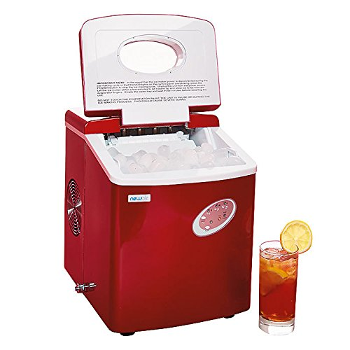 NewAir-AI-100R-28-Pound-Portable-Icemaker-Red