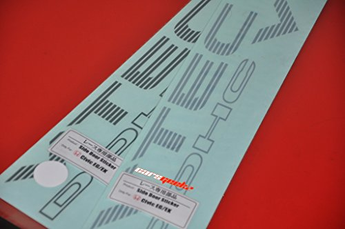Dohc Vtec in Silver Colour | Side Door Sticker - Honda Eg or Ek Sticker (Vtec Standard)