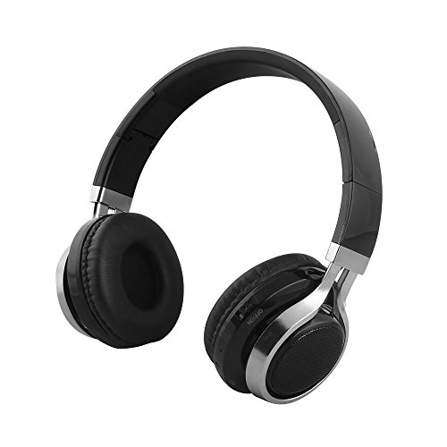 Gacho Wireless On Ear Headphone, Support TF Card,Fold-able Make it more Easier to Carry-Black