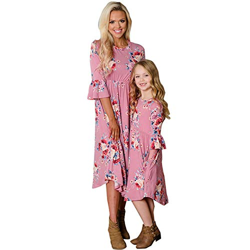 Babibeauty Mommy and Me Family Matching Dress Floral