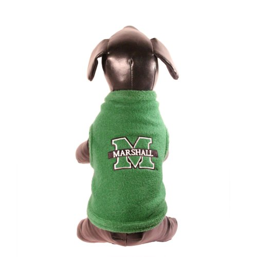 Fan Adult Sweatshirt - All Star Dogs NCAA Marshall Thundering Herd Polar Fleece Dog Sweatshirt, Large