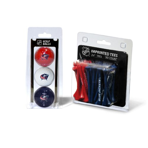 Nhl Golf Balls (NHL Columbus Blue Jackets 3 Golf Balls And 50 Golf Tees)