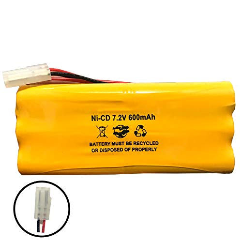 118-0017 Synergistic 1180017 Teledyne Big Beam 7.2v 600mAh Ni-CD Battery Pack Replacement for Emergency/Exit Light OSA026 OSI ()