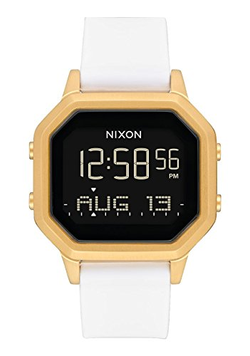 Nixon Women's Siren SS Digital Watch Gold White 36mm