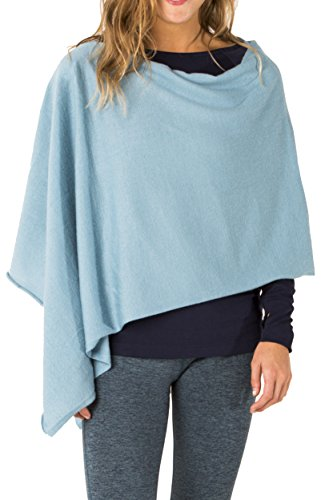 Carve Designs Women's Torrey Poncho Shirt, One Size, Blue...