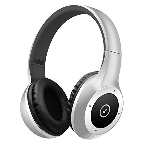 Price comparison product image Stereo Bluetooth HIFI Wireless Headset Sports Headphones With Call Mic / Microphone (Silver)