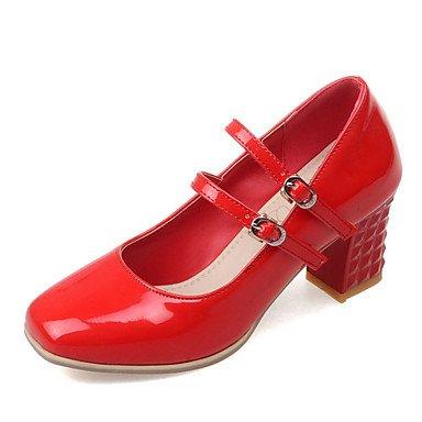 Zormey Frauen Schuhe Amp Ferse/Quadratische Spitze Heels B¨¹ro & Amp Schuhe Karriere / Kleid Schwarz/Rot/Silber US4-4.5 / EU34 / UK2-2.5 / CN33 0cbb58