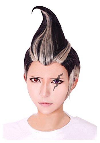 Cfalaicos Danganronpa Gundham Tanaka Cosplay Wig (Linen Grey Black) -