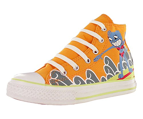 Converse All Star Chuck Taylor Space Hi Boys Canvas Shoes Size US 2, Regular Width, Color (Yellow Converse Shoes)