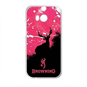 Browning Deer Logo Design Hard Case Cover Protector For HTC M8