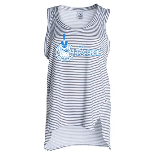 Official NCAA The Citadel Bulldogs - Women's Stretchy Striped Tank