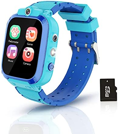 Smart Watch for Kids, Enlanda Kids Smart Watch for Boys Girls, Touch Screen Kids Game Watch with 14 Educational Games, Music Video Player, Pedometer, Alarm Clock, Perfect Boy Girl Gifts