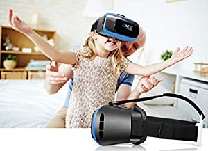 VR Headset for iPhone & Android Phone - Universal Virtual Reality Goggles - Play Your Best Mobile Games 360 Movies With Soft & Comfortable 3D VR Glasses | + Adjustable Eye Protection System +eBook from Bnext