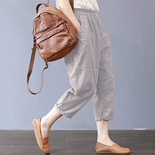 Baggy Ethnic Harem High Gray Oversize Women Waisted Trousers Kobay Ladies Patchwork Pants Pants Plus 5XL Pants 1wYn8qFB